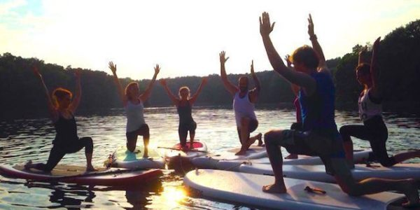 SUP Yoga Schlachtensee-Stand-Up-Paddling-Stehpaddler-02